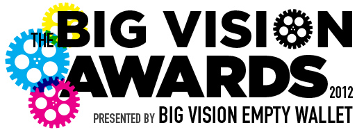 Poster for the Big Vision Empty Wallet Awards, June 14th, 2012.