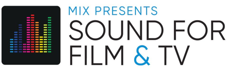 Logo from an immersive sound conference by Mix. The logo features rainbow music levels.
