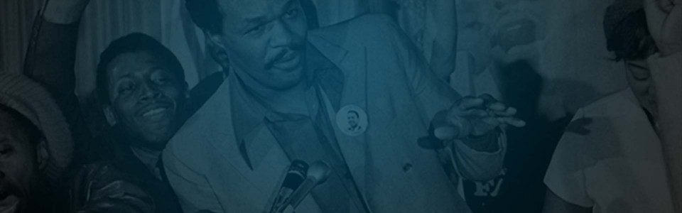 Still of former DC mayor, Marion Barry, speaking at a rally from HBO documentary The Nine Lives of Marion Barry. Flavorlab Score composed original music for the documentary.