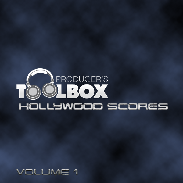 Cover art for Producer's Toolbox album Hollywood Scores Volume 01, featuring classical trailer music.