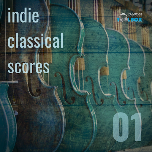 Producer's Toolbox album, Indie Classical Scores, featuring acoustic and plucky classical tracks.
