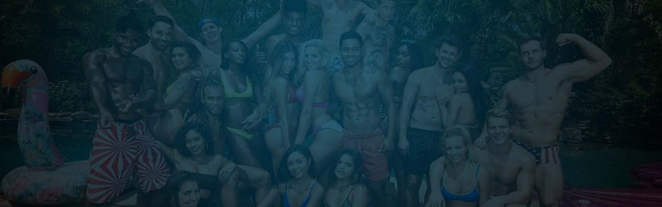 Shot of the cast of Are You The One? on MTV. Producer's Toolbox provided a blanket license for the series.
