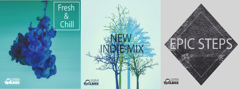 2018 Winter Album Releases from Producer's Toolbox: Fresh & Chill, New Indie Mix, and Epic Steps. All tracks available for licensing.