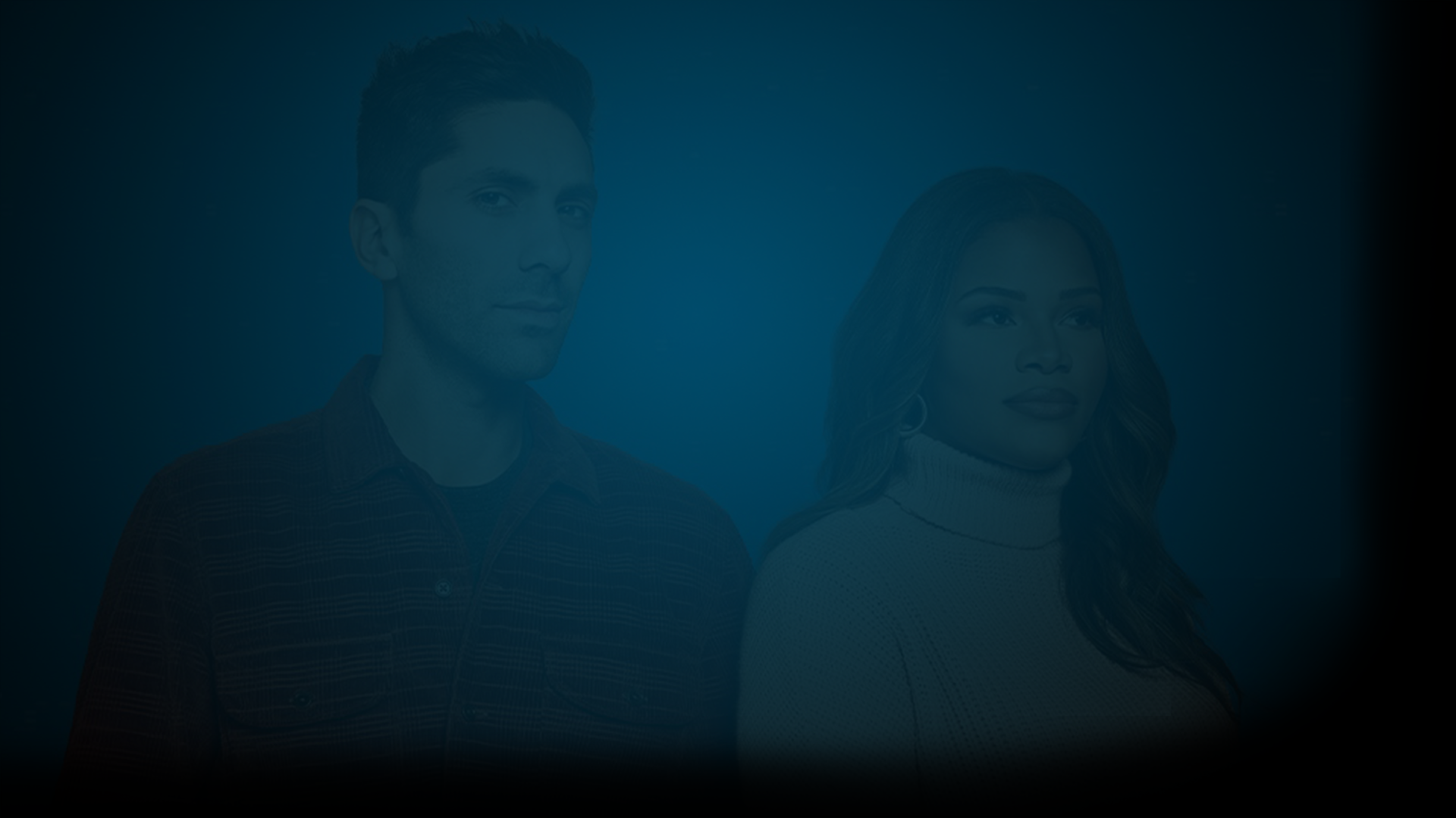 Photo of Nev Schulman and Kamie Crawford from MTV's Catfish: The TV Show standing and looking off into the distance. Producer's Toolbox provides custom catalog collaboration and blanket music licensing for the show.