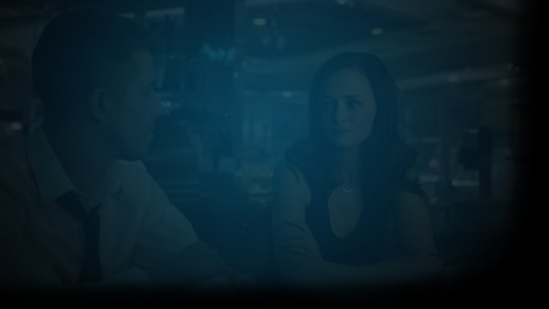Still of Alexis Bladel and Beau Knapp in 2019 film, Crypto. Flavorlab Sound provided sound design, voice over recording, and mix to the feature film.