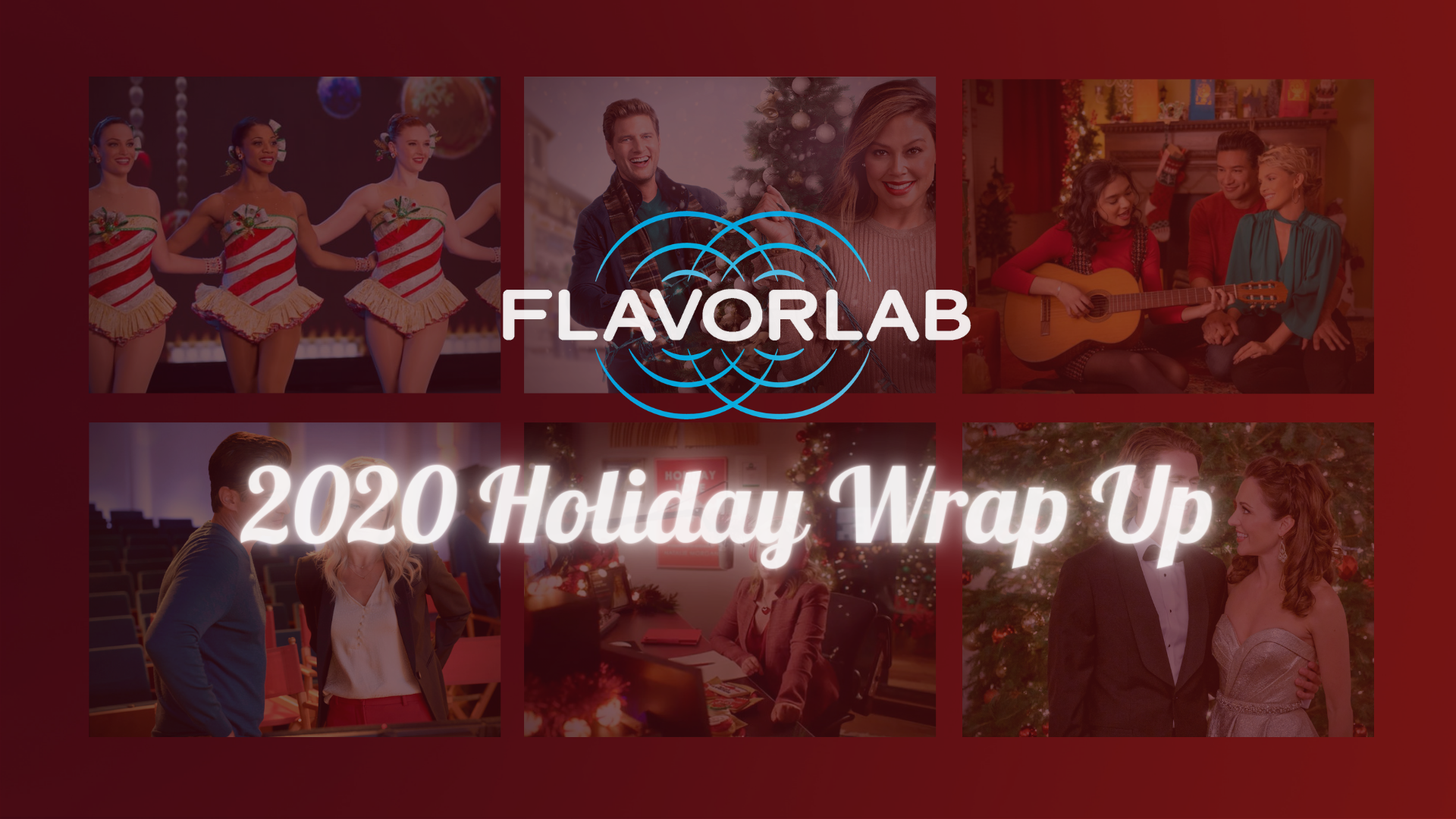 Cover photo for our 2020 holiday wrap up - Flavorlab Sound work on five television holiday films this year!